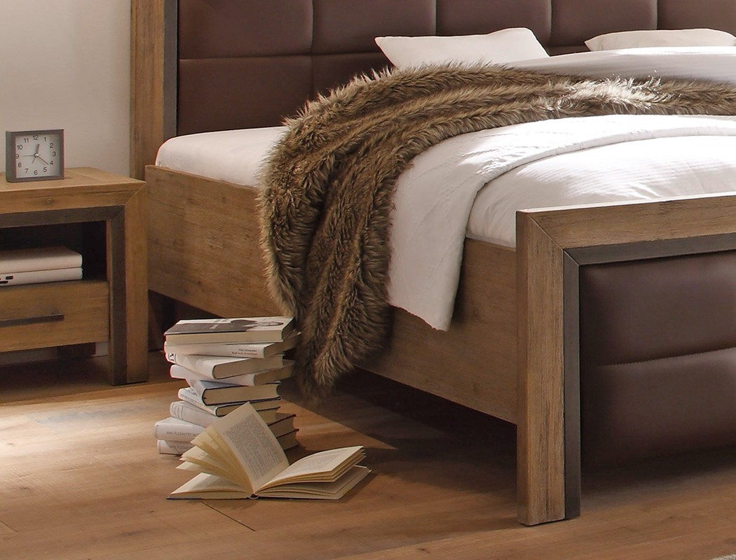 massivholzbett bett 140x200 akazie massiv holzbett. Black Bedroom Furniture Sets. Home Design Ideas