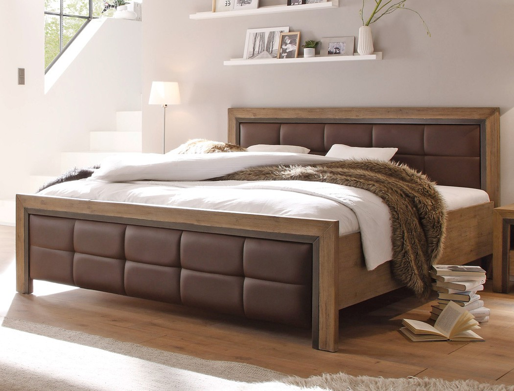 massivholzbett bett 140x200 akazie massiv holzbett jugendbett singlebett cinco ebay. Black Bedroom Furniture Sets. Home Design Ideas