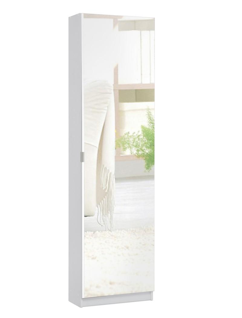 schuhschrank zino wei 50x180x20 cm spiegelt r. Black Bedroom Furniture Sets. Home Design Ideas
