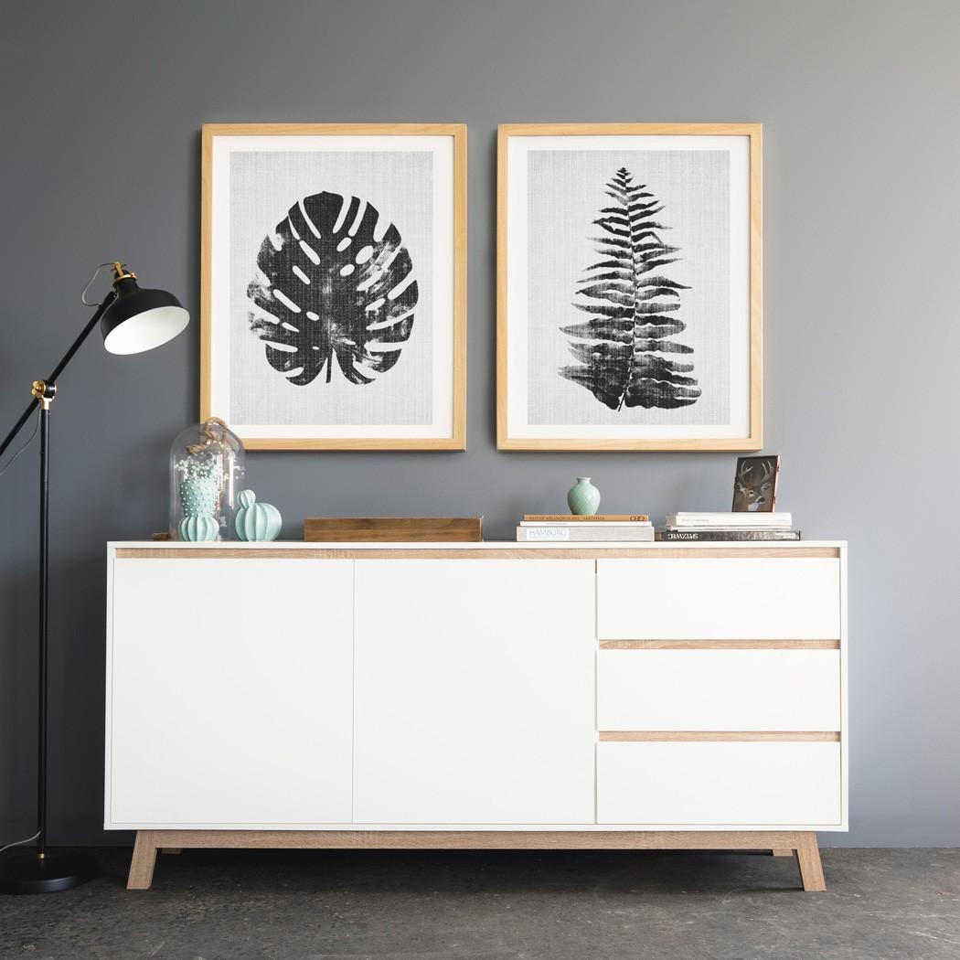 sideboard anzo 9 wei 180x85x40 cm schrank wohnzimmerschrank anrichte wohnbereiche wohnzimmer. Black Bedroom Furniture Sets. Home Design Ideas