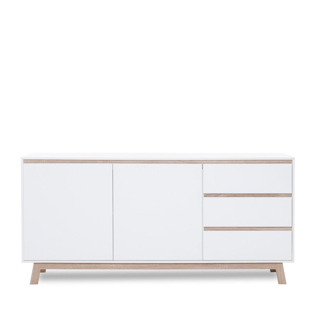 Sideboard wei 180x85x40 cm schrank wohnzimmerschrank for Sideboard 260 cm