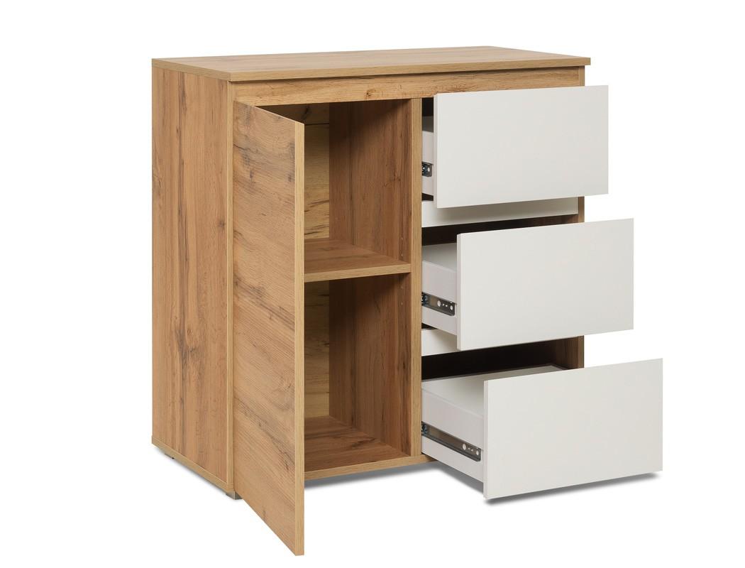 Kommode honigeiche 80x80x40 cm sideboard schrank for Sideboard 260 cm