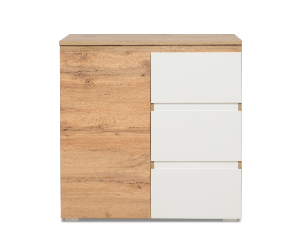 Kommode imke 2 honigeiche 80x80x40 cm sideboard schrank for Sideboard 80 x 40