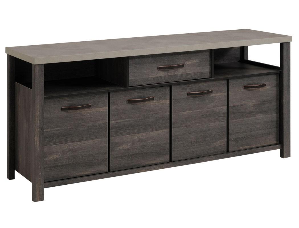 Sideboard maxim 8 eiche grau 182x84x50 cm anrichte kommode for Sideboard 260 cm