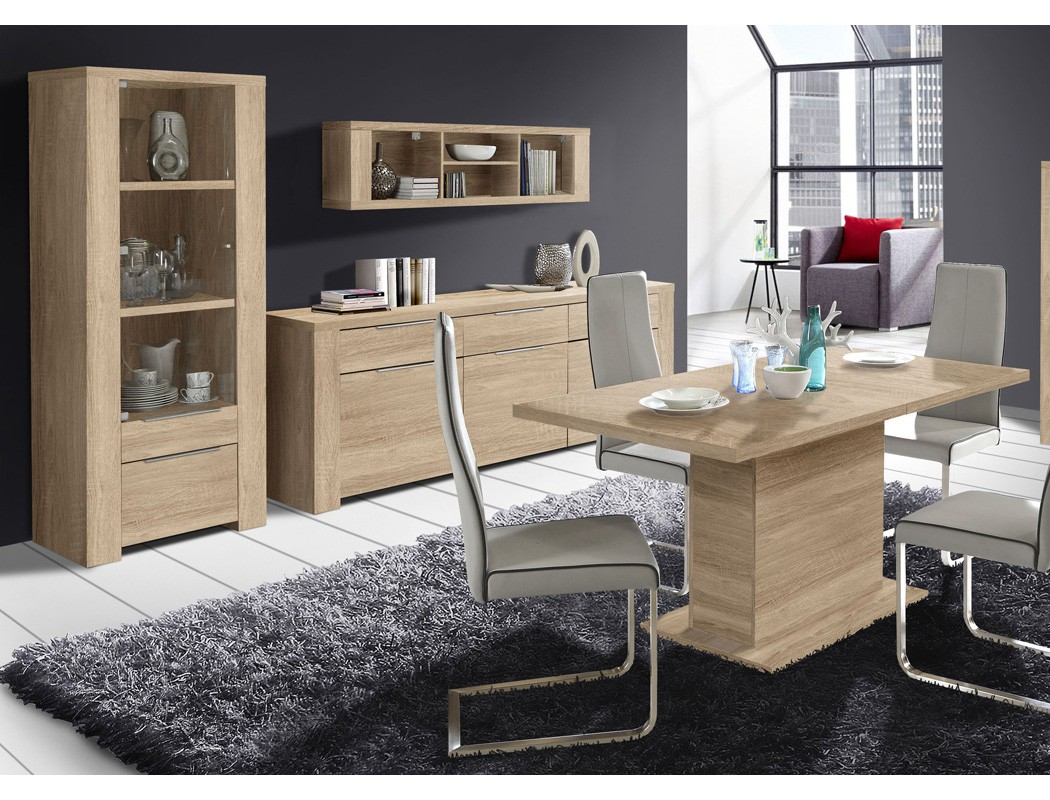 esszimmer calvin 79 eiche sonoma 4 teilig s ulentisch vitrine sideboard m bel m bel sets. Black Bedroom Furniture Sets. Home Design Ideas