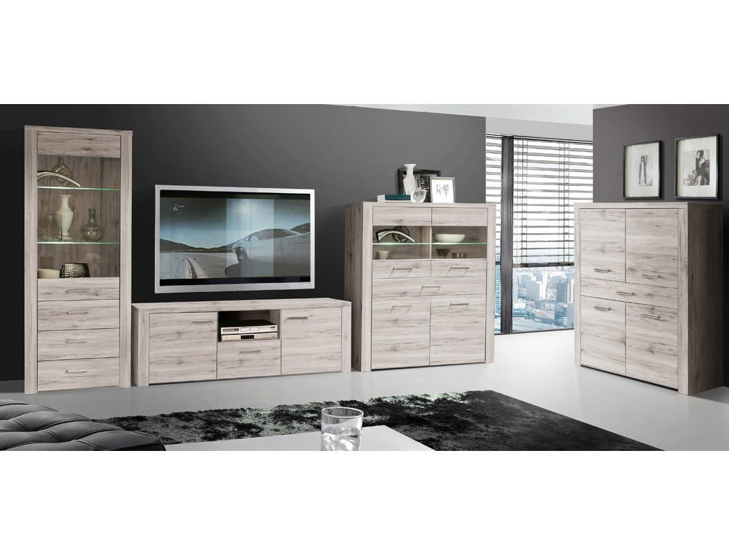 vitrine phil 6 sandeiche 77x198x41 cm glasvitrine beleuchtung wohnbereiche esszimmer sideboards. Black Bedroom Furniture Sets. Home Design Ideas