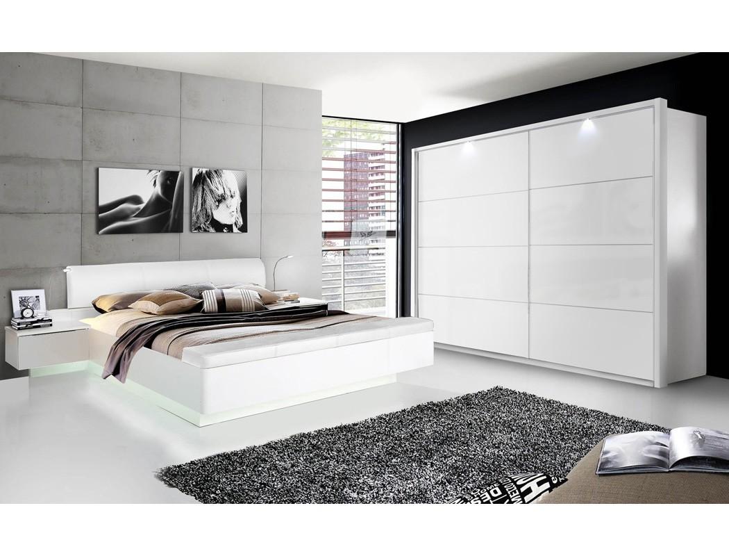 doppelbett sophie 1 wei hochglanz 180x200 ehebett mit 2x nachtkonsole wohnbereiche schlafzimmer. Black Bedroom Furniture Sets. Home Design Ideas