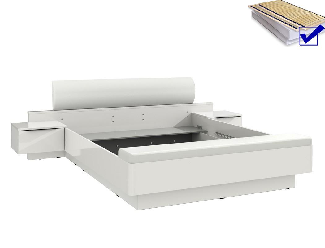 doppelbett sophie 1 wei 180x200 ehebett mit 2x nako rost matratze wohnbereiche schlafzimmer. Black Bedroom Furniture Sets. Home Design Ideas