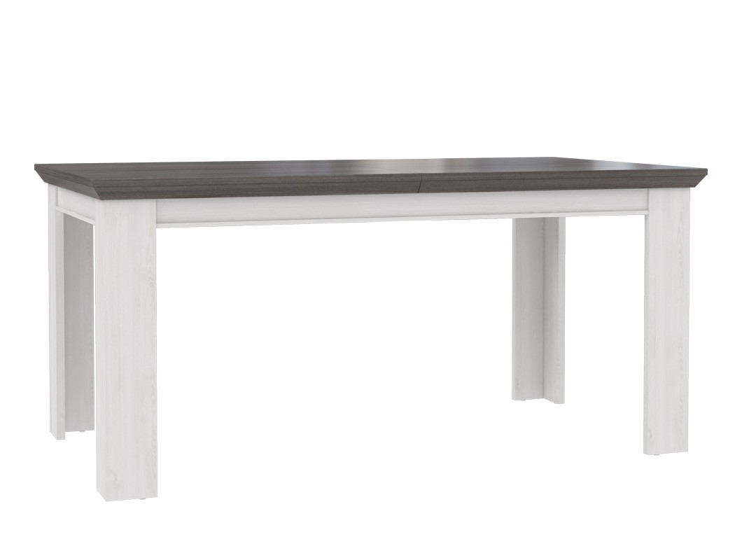 esstisch gaston 28 wei grau 160 207 x90x75cm ausziehbar esszimmertisch landhaus ebay. Black Bedroom Furniture Sets. Home Design Ideas