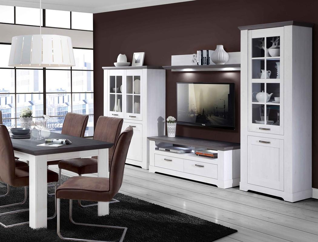 wohnzimmer gaston 52 wei grau beleuchtung 6 teilig schneeeiche wohnbereiche esszimmer esszimmer. Black Bedroom Furniture Sets. Home Design Ideas