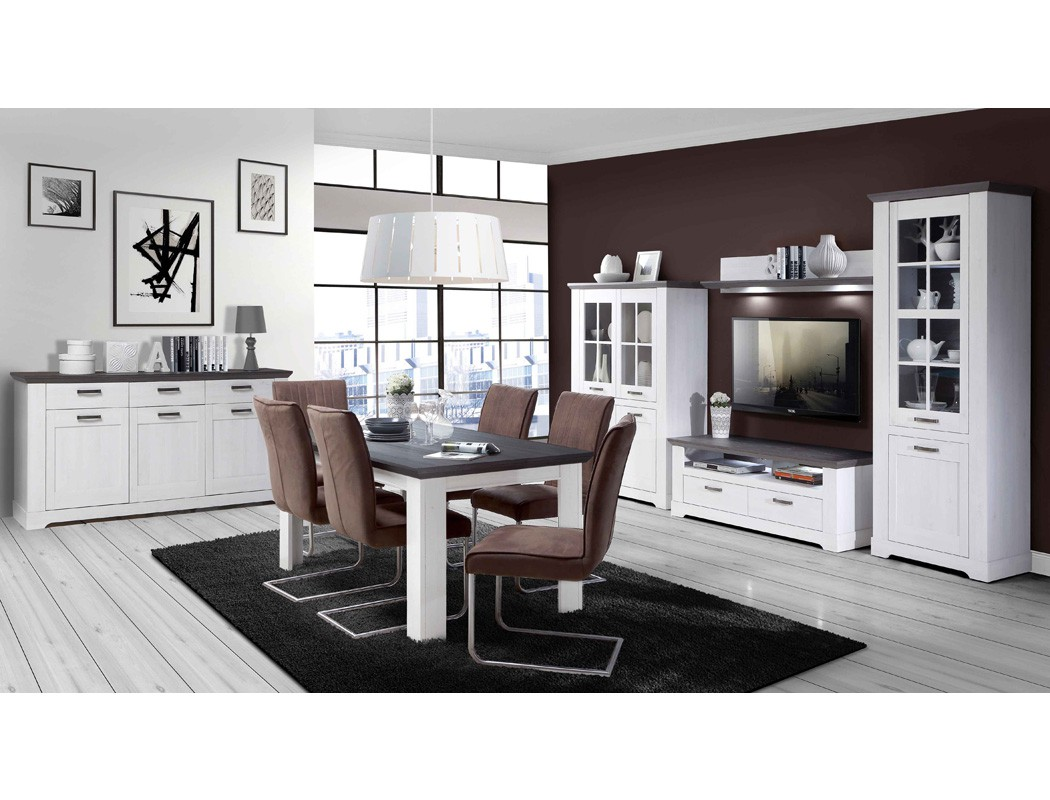 wohnzimmer gaston 52 wei grau beleuchtung 6 teilig schneeeiche wohnbereiche esszimmer esszimmer. Black Bedroom Furniture Sets. Home Design Ideas