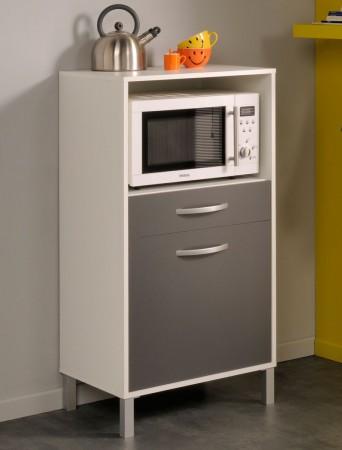 küchenschrank opika 1 60x118x43 cm weiß grau schrank