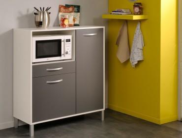 küchenschrank opika 2 100x118x43 cm weiß grau schrank
