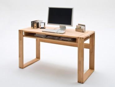 Schreibtisch jarla 135x60x76 cm kernbuche massiv ge lt for Jugendzimmer kernbuche