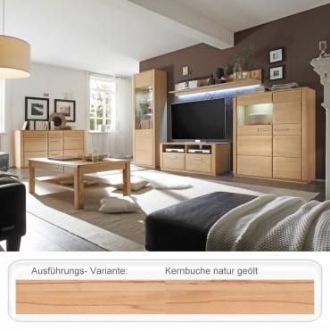 wohnzimmer senta 30 kernbuche teilmassiv 6 teilig. Black Bedroom Furniture Sets. Home Design Ideas