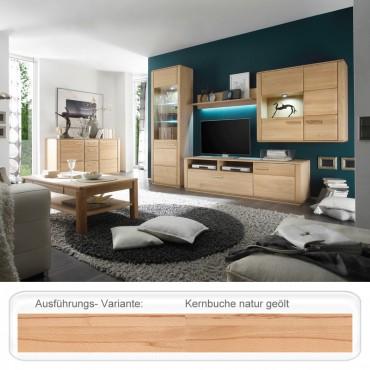Wohnzimmer Senta 32 Kernbuche Teilmassiv 6 Teilig Wohnmöbel