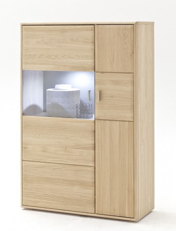 Highboard Torrent 11 rechts Eiche bianco massiv 94x140x39 cm Schrank