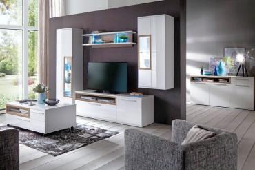 h ngeschrank parla 13 wei hochglanz 60x140x37 cm schrank wohnzimmer. Black Bedroom Furniture Sets. Home Design Ideas