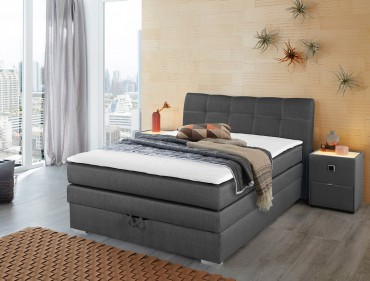 boxspringbett amalina 140x200 braun nachttisch mit. Black Bedroom Furniture Sets. Home Design Ideas