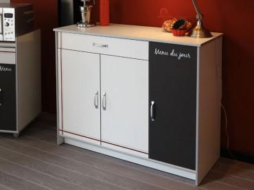 küchenschrank anrichte cosina 3 116x90x44cm weiß abs alu