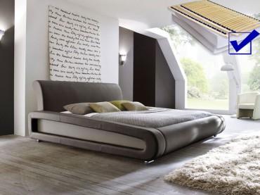polsterbett komplett blain bett 160x200 braun lattenrost. Black Bedroom Furniture Sets. Home Design Ideas