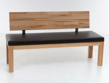 mit Lehne 130cm 150cm Varianten Holzbank Sitzbank massiv Esszimmer ...
