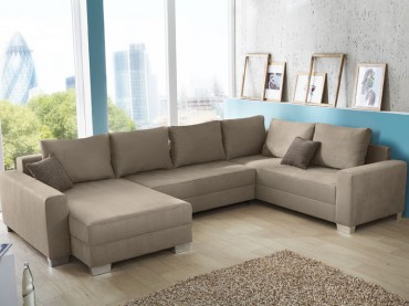 Sofa l nge bis 350cm for Wohnlandschaft ausziehbar