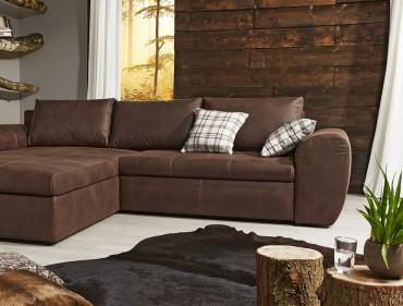 Sofa couch wohnlandschaften - Sofa antiklederoptik ...