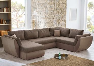 Sofa l nge bis 350cm for Wohnlandschaft u form braun