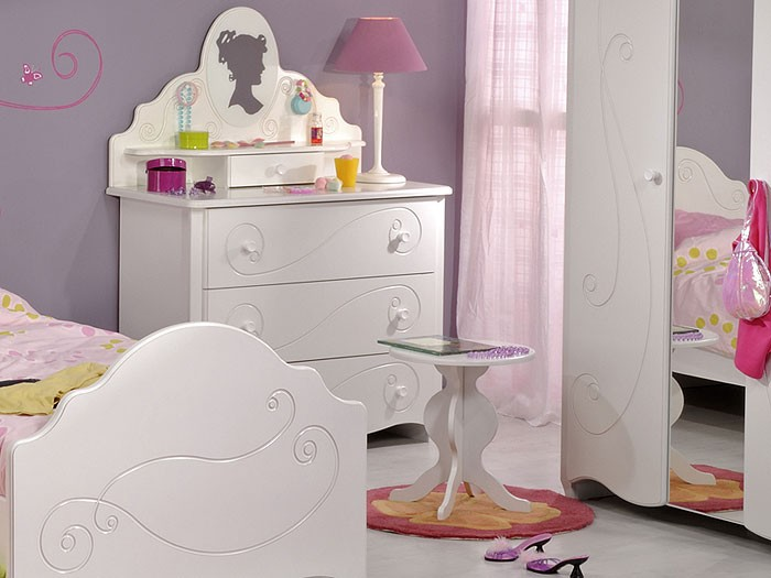 kinderzimmer anne 1 7 tlg wei schrank kinderbett. Black Bedroom Furniture Sets. Home Design Ideas