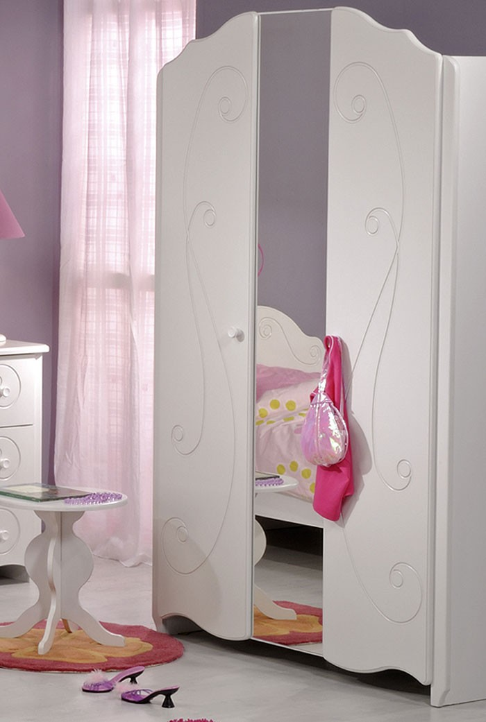 kinderzimmer anne 1 7 tlg wei lackiert schrank. Black Bedroom Furniture Sets. Home Design Ideas