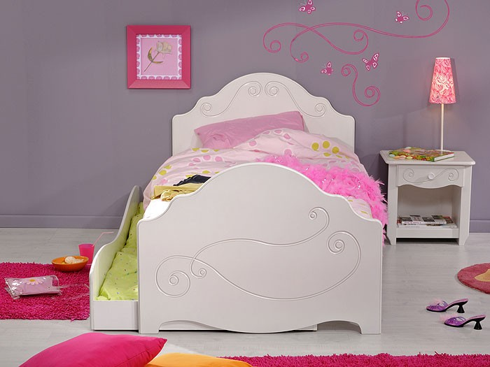kinderbett anne 3 weiss lackiert 90x200 nachttisch bettkasten kinderzimmer ebay. Black Bedroom Furniture Sets. Home Design Ideas