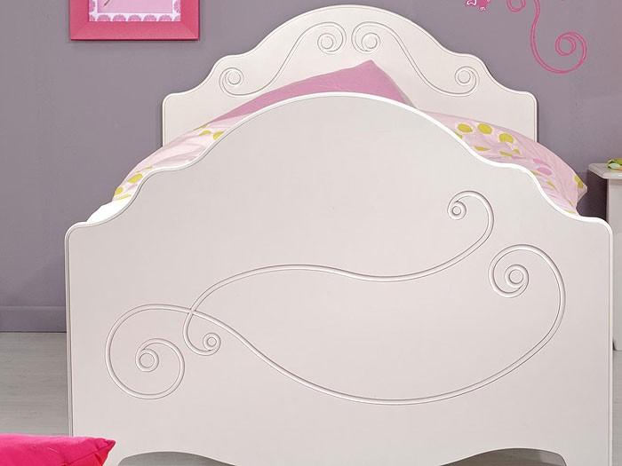 kinderbett anne 3 90x200cm wei lackiert mit nachttisch. Black Bedroom Furniture Sets. Home Design Ideas