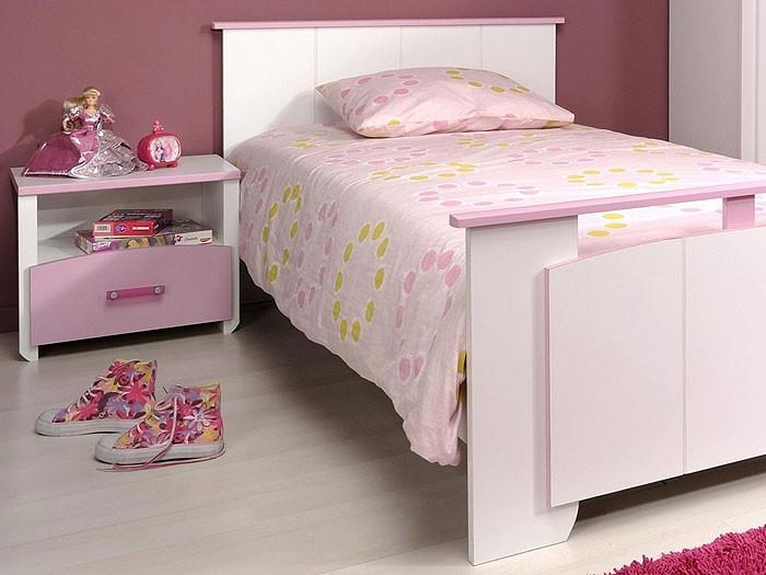 Kinderzimmer beauty 2, 3 teilig weiß rosa , schrank   bett   nako ...