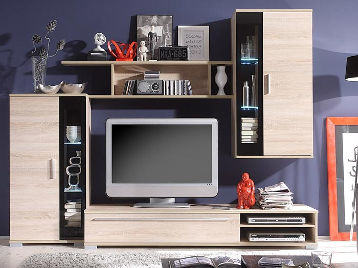 ikea wohnwand eiche raum und m beldesign inspiration. Black Bedroom Furniture Sets. Home Design Ideas