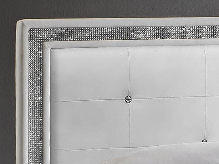 polsterbett bett myles i schwarz kunstleder kopfteil mit. Black Bedroom Furniture Sets. Home Design Ideas