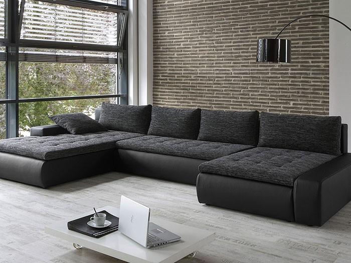 uncategorized : geräumiges kunstleder sofa schwarz wohnzimmer ... - Wohnzimmer Couch Schwarz