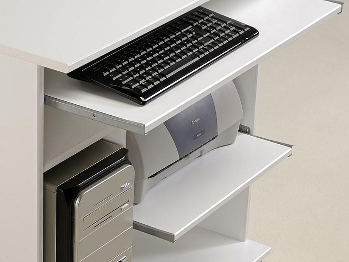 Computertisch PC Tisch Pepe 1 76x76x50cm Weiss Hochglanz Foliert Bild 3