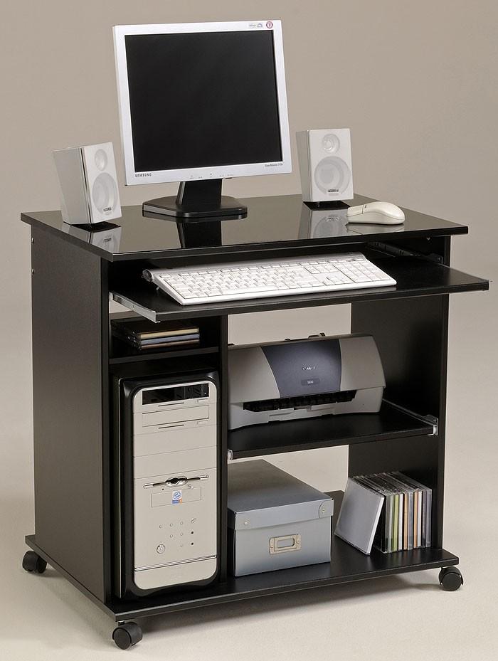 computertisch schwarz pepe 2 76x76x50cm pc tisch. Black Bedroom Furniture Sets. Home Design Ideas