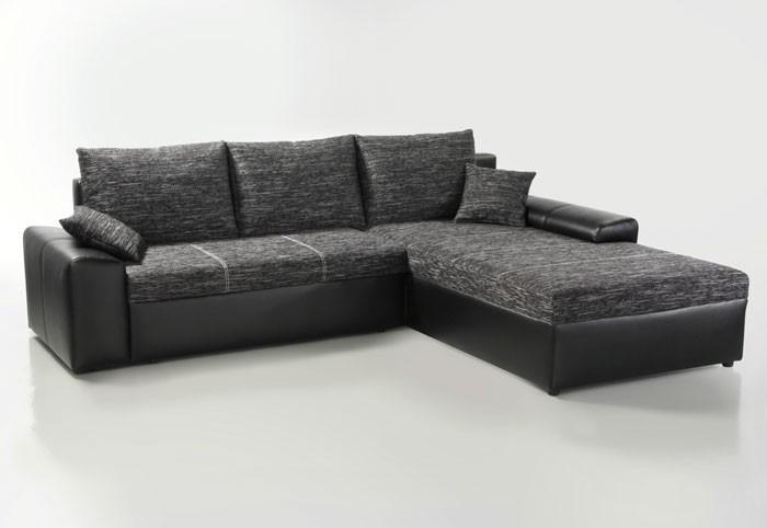 Ecksofa sharon 250x193cm schwarz grau schwarz couch sofa for Ecksofa 250 x 180