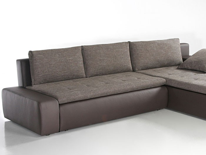 ecksofa alisa 300x210cm webstoff braun kunstleder braun couch wohnlandschaft ebay. Black Bedroom Furniture Sets. Home Design Ideas