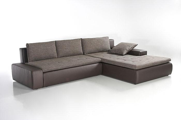 ecksofa alisa 300x210cm webstoff braun kunstleder braun couch wohnlandschaft ebay. Black Bedroom Furniture Sets. Home Design Ideas