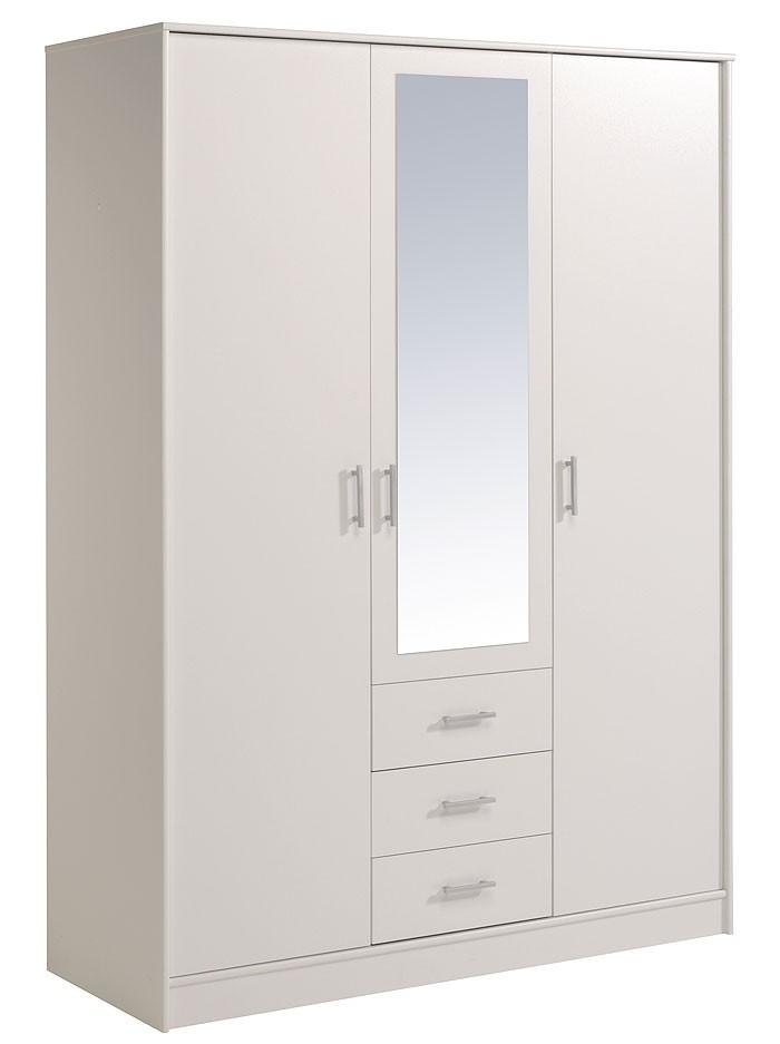 Kleiderschrank weiss 3 t rig 148x202x55 cm for Schlafzimmerschrank 300 cm