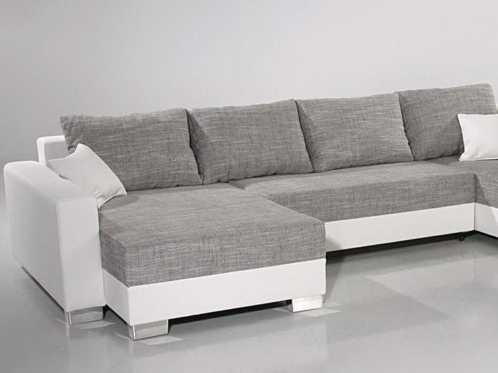 Polsterecke amy 320x220 160cm graun wei couch sofa for Eckcouch kunstleder