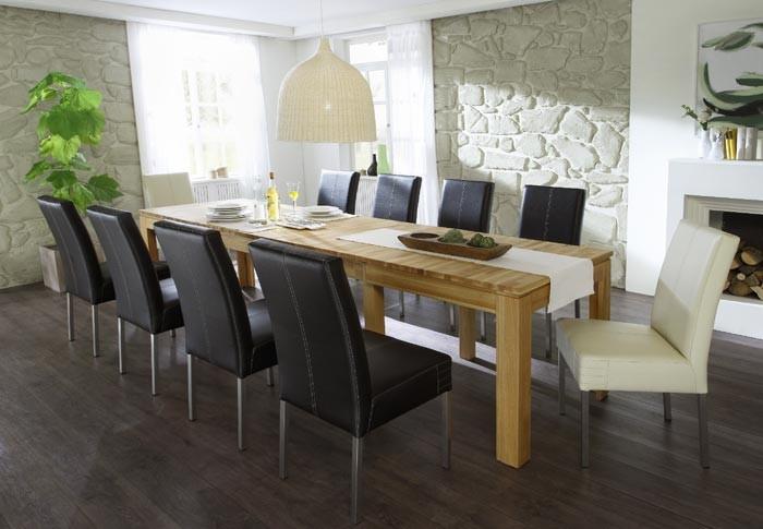 esstisch allround xl 160 310 x90x76cm kernbuche lackiert ausziehbar wohnbereiche esszimmer. Black Bedroom Furniture Sets. Home Design Ideas