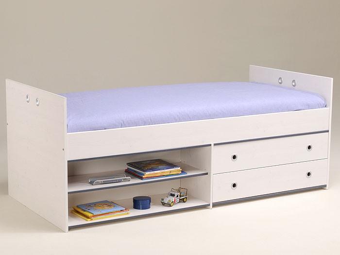 kinderbett snoopy 5 stauraumbett 95x203x80cm kiefer nb wei wohnbereiche schlafzimmer betten. Black Bedroom Furniture Sets. Home Design Ideas
