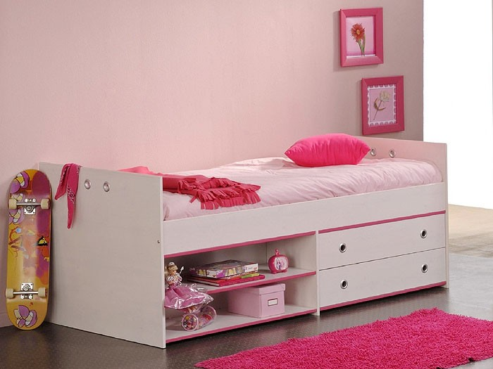 kinderbett snoopy 5 stauraumbett 95x203x80cm kiefer nb. Black Bedroom Furniture Sets. Home Design Ideas