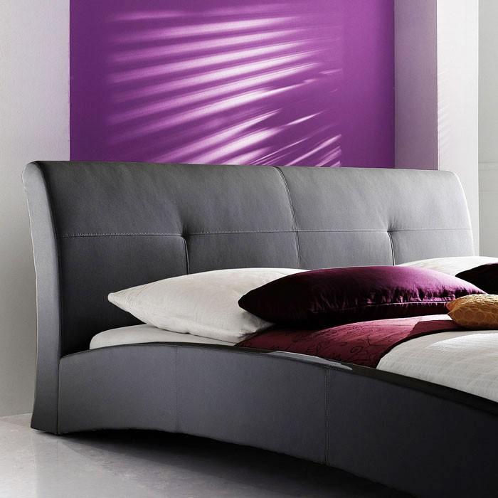 polsterbett schwarz bett 180x200 kunstleder bettgestell kunstlederbett amadeo ebay. Black Bedroom Furniture Sets. Home Design Ideas