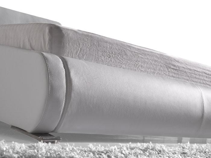 polsterbett amadeo bett 140x200 cm weiß kunstleder bettgestell, Hause deko
