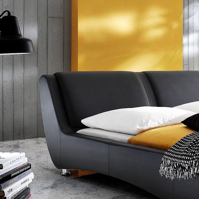 polsterbett schwarz bett 180x200 bettgestell. Black Bedroom Furniture Sets. Home Design Ideas